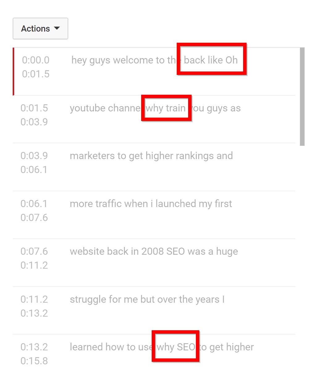 YouTube understanding
