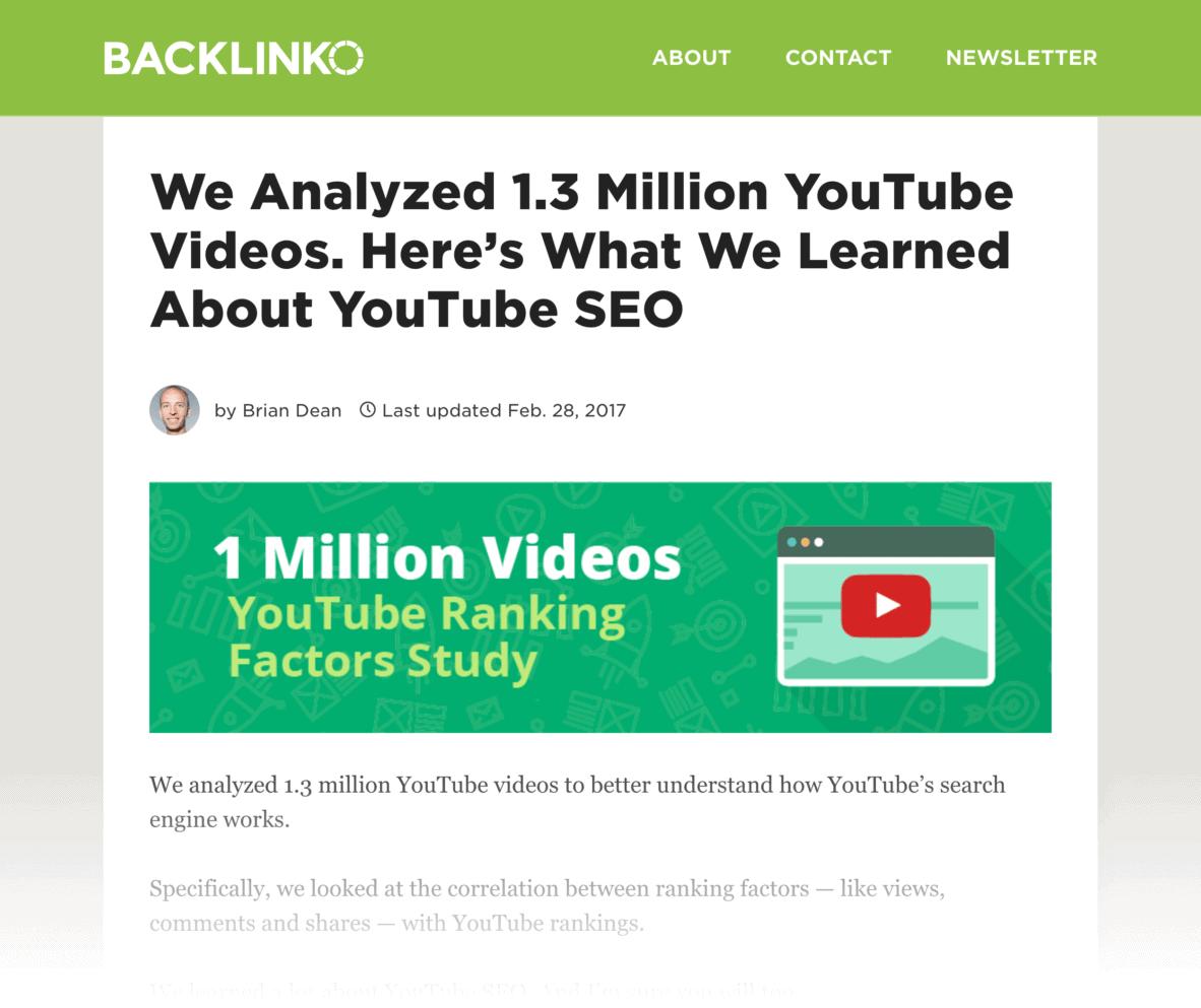 Backlinko article