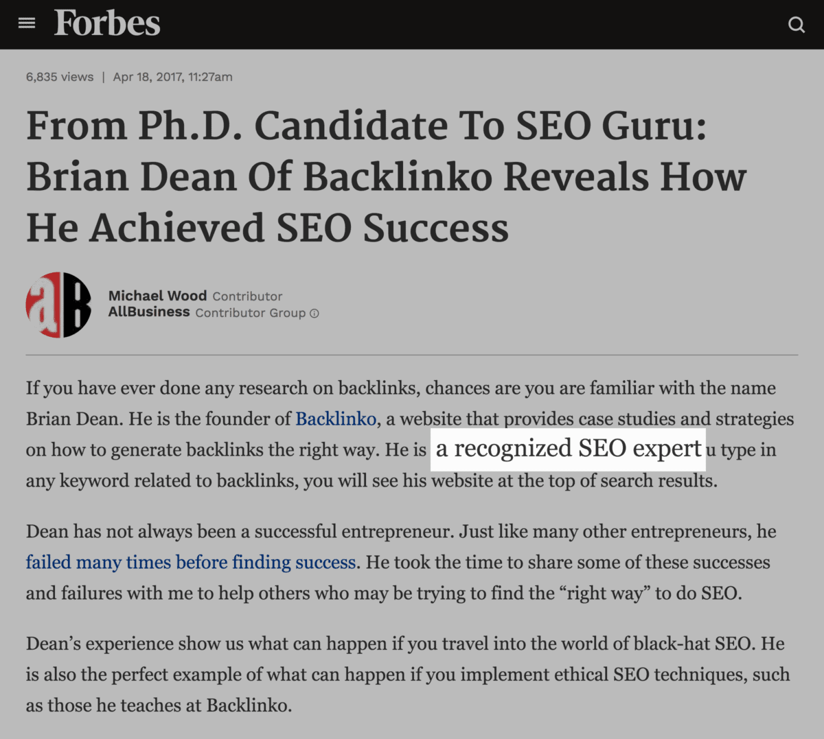 Forbes – SEO Expert