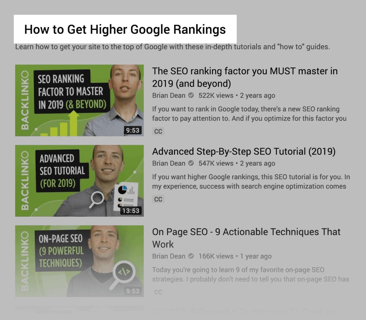Higher rankings – Playlist