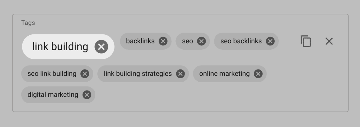 Link Building tag