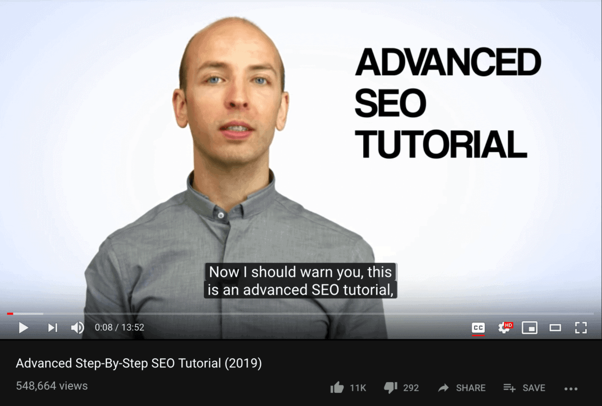 Say your exact keywords four times in your video