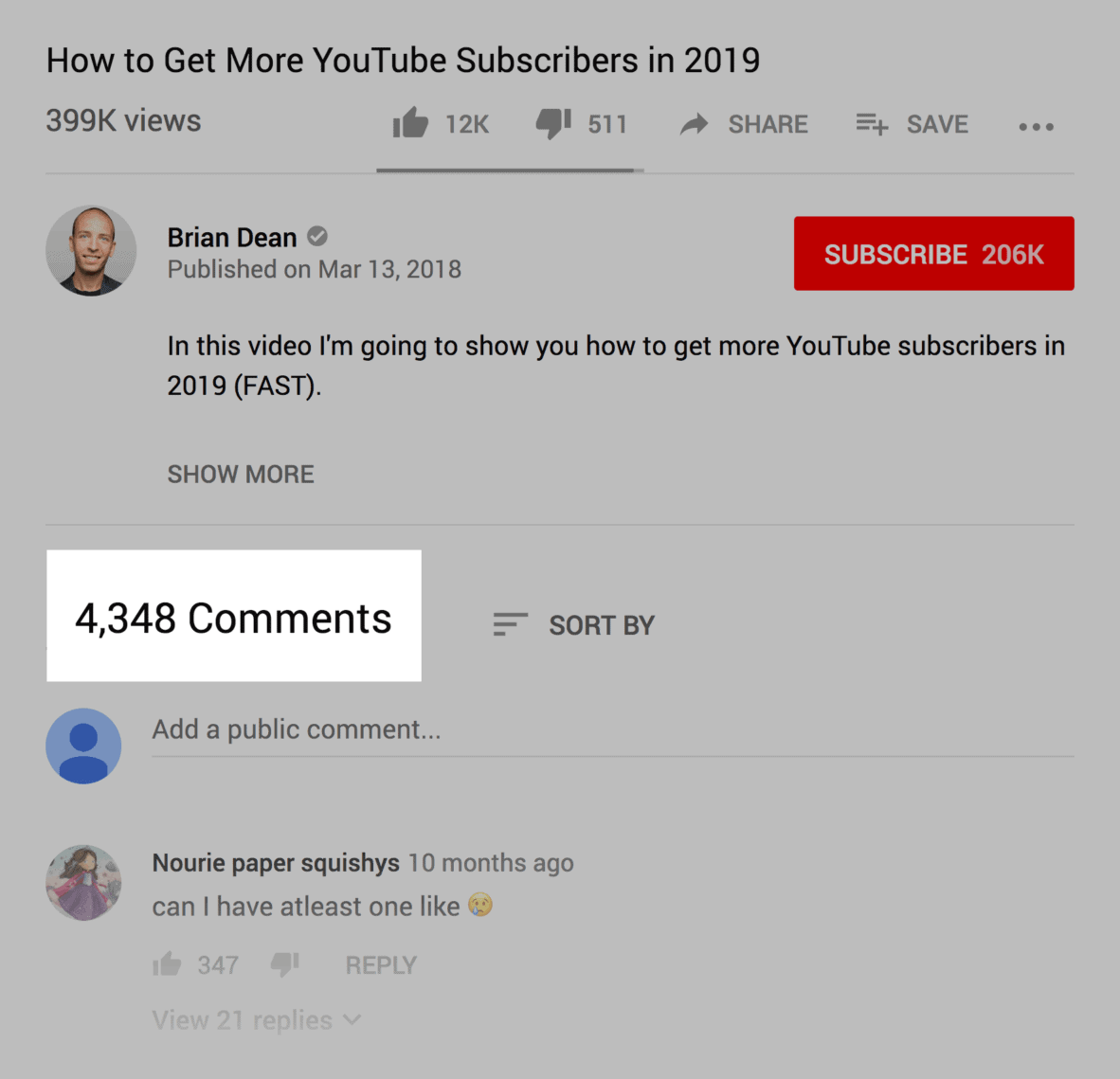 Video comments