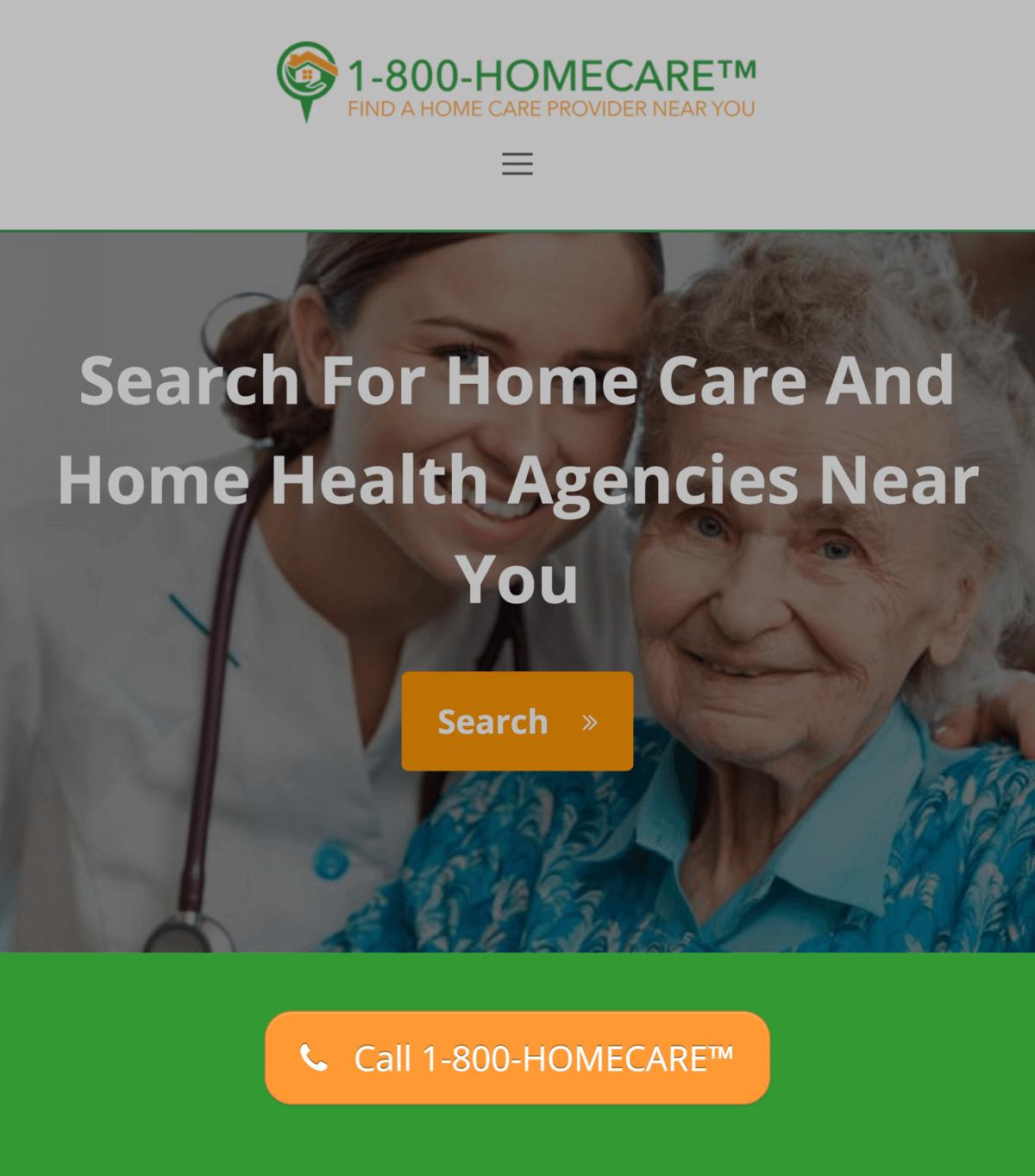 1-800 homecare – Button