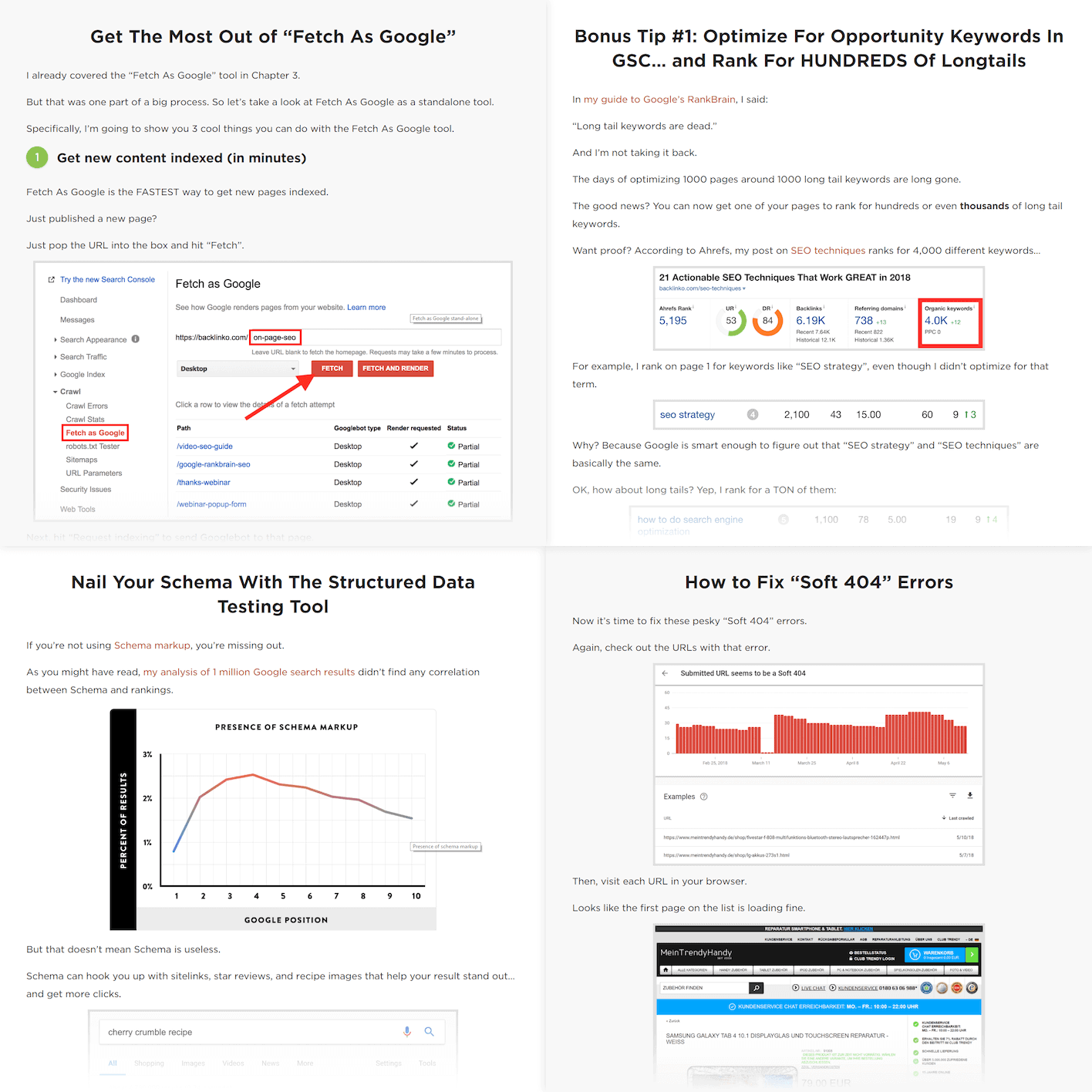"""Actionable tips from """"Google Search Console"""" post"""