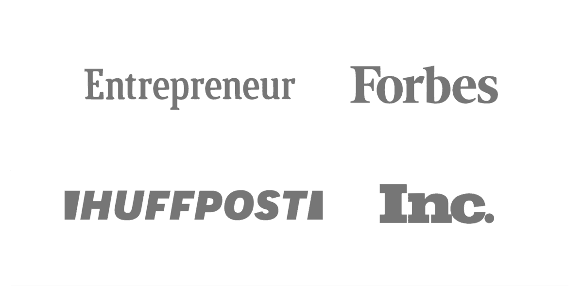 Logos of places that have featured Backlinko