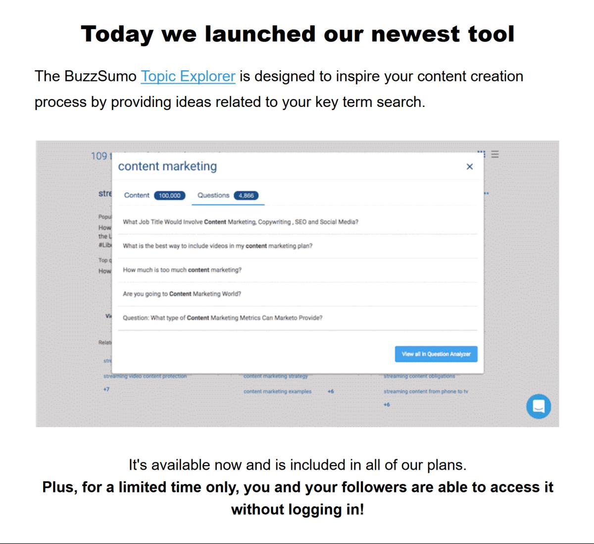 BuzzSumo – Offer outline