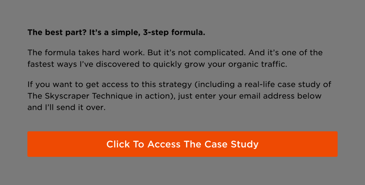 """Button with the CTA """"Click to access the case study"""""""