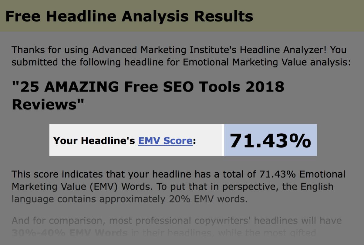 EMV score of 71%