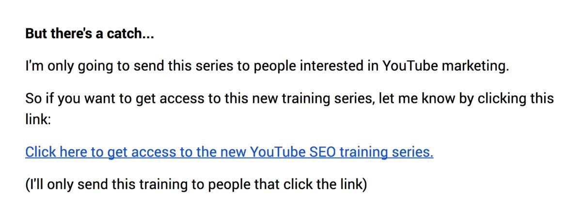 Explicit opt-in via link