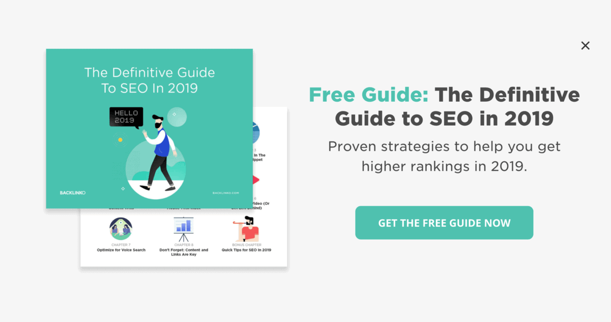 Free guide popup