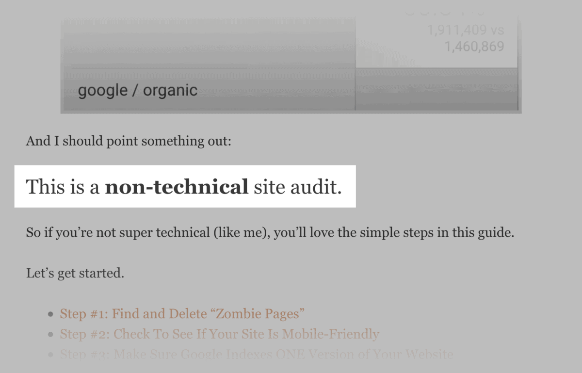 "Emphasis of ""Non-technical"""