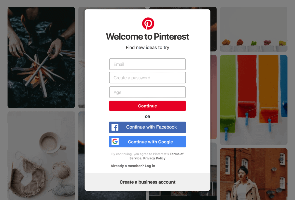 Pinterest – Login