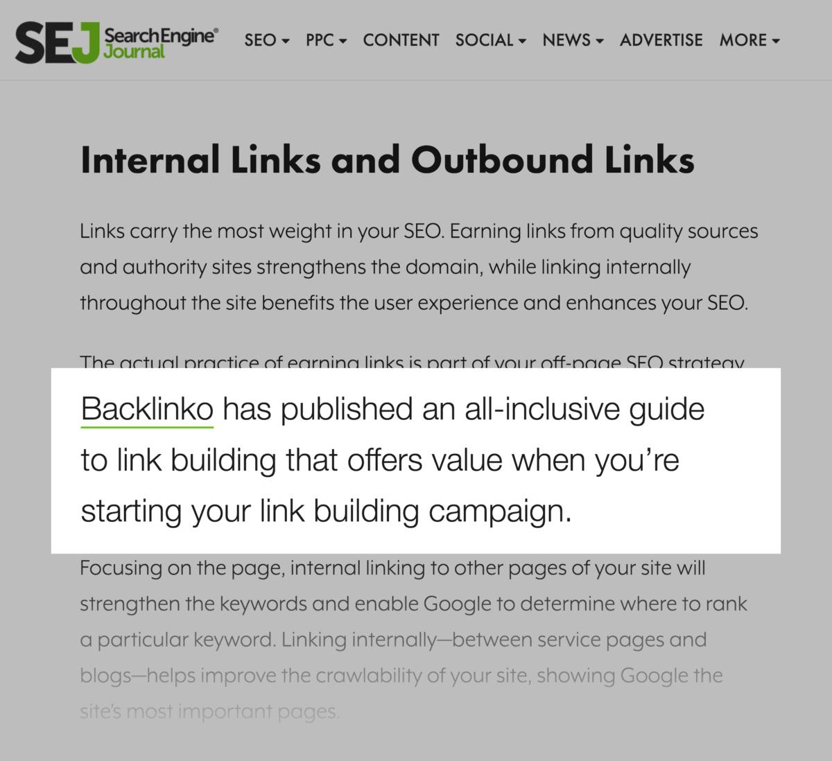 SEJ – Backlink to Backlinko