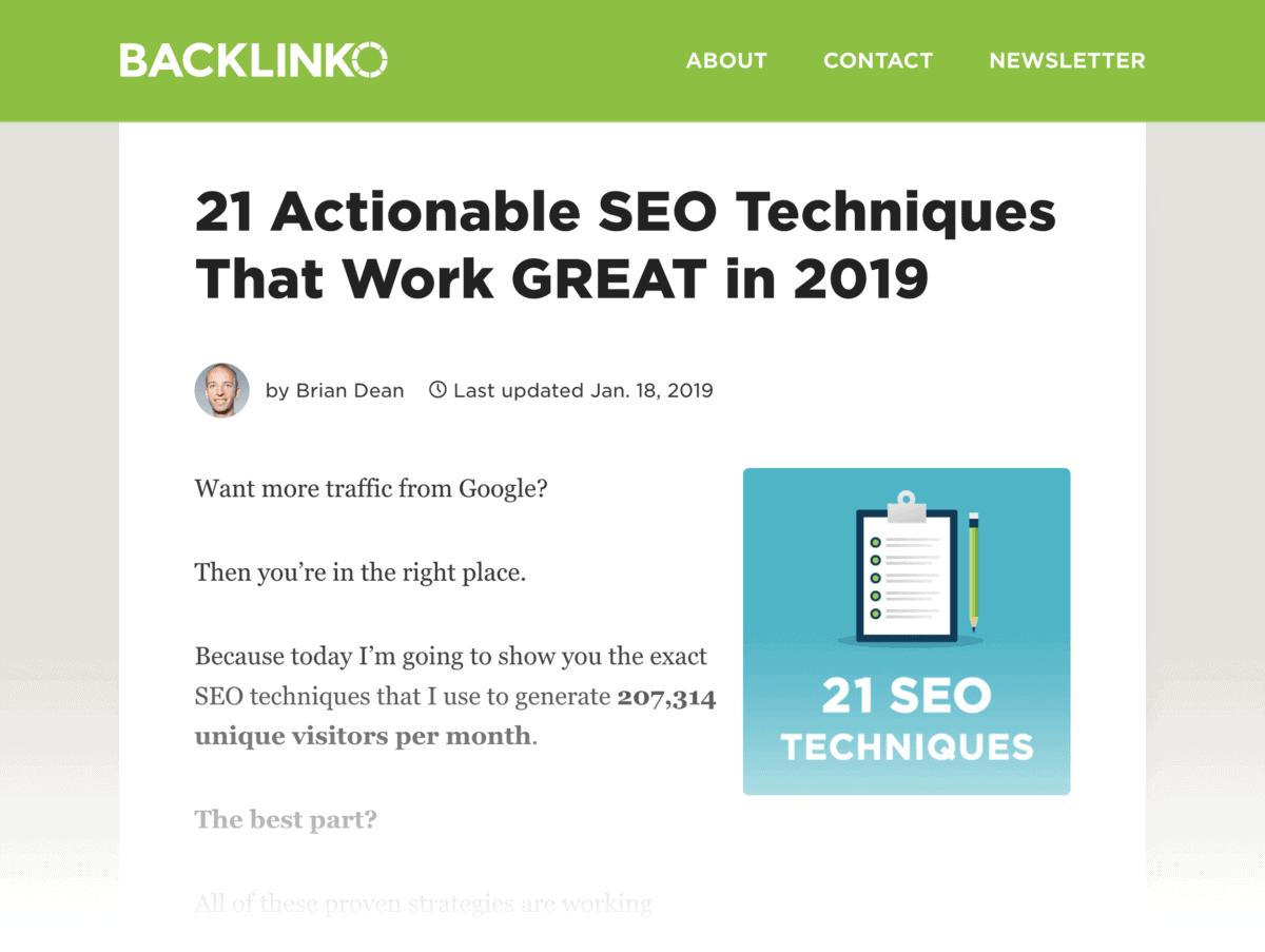 SEO Techniques that work
