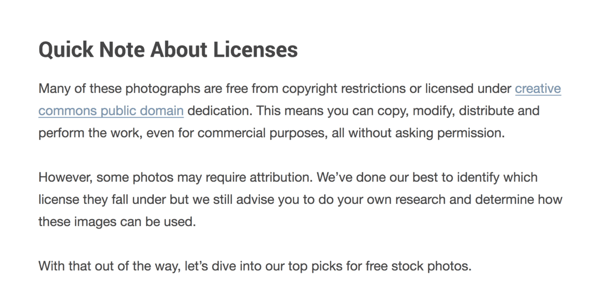 Exact license for each source
