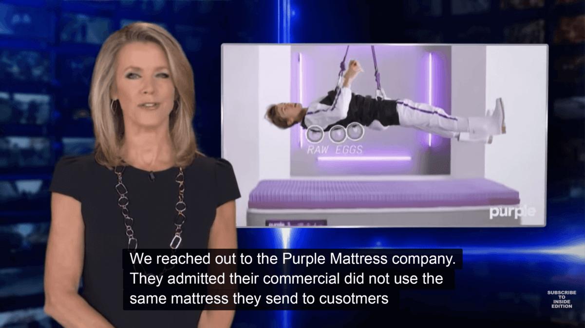 Purple Mattress flaws video