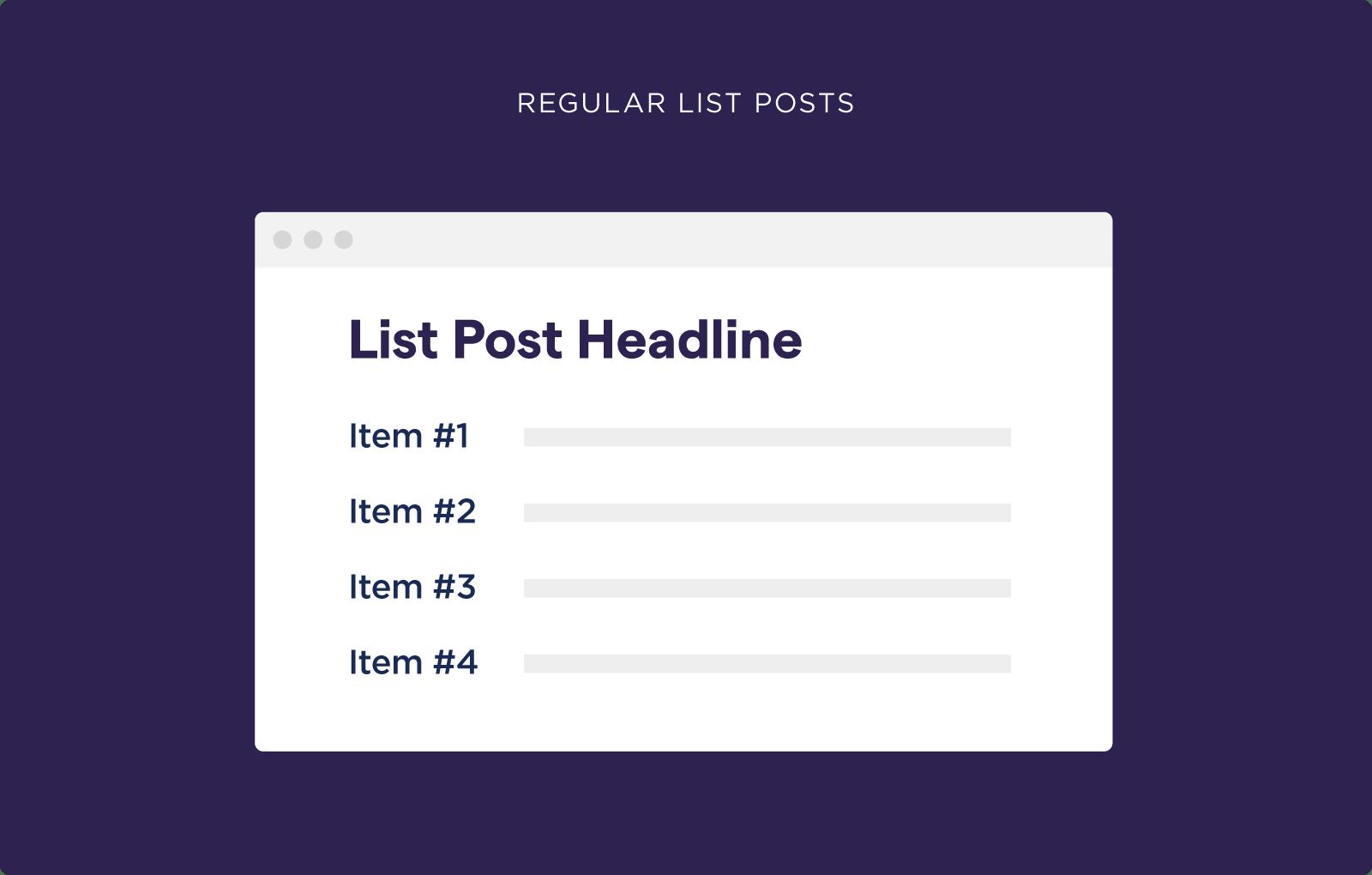 Regular list posts