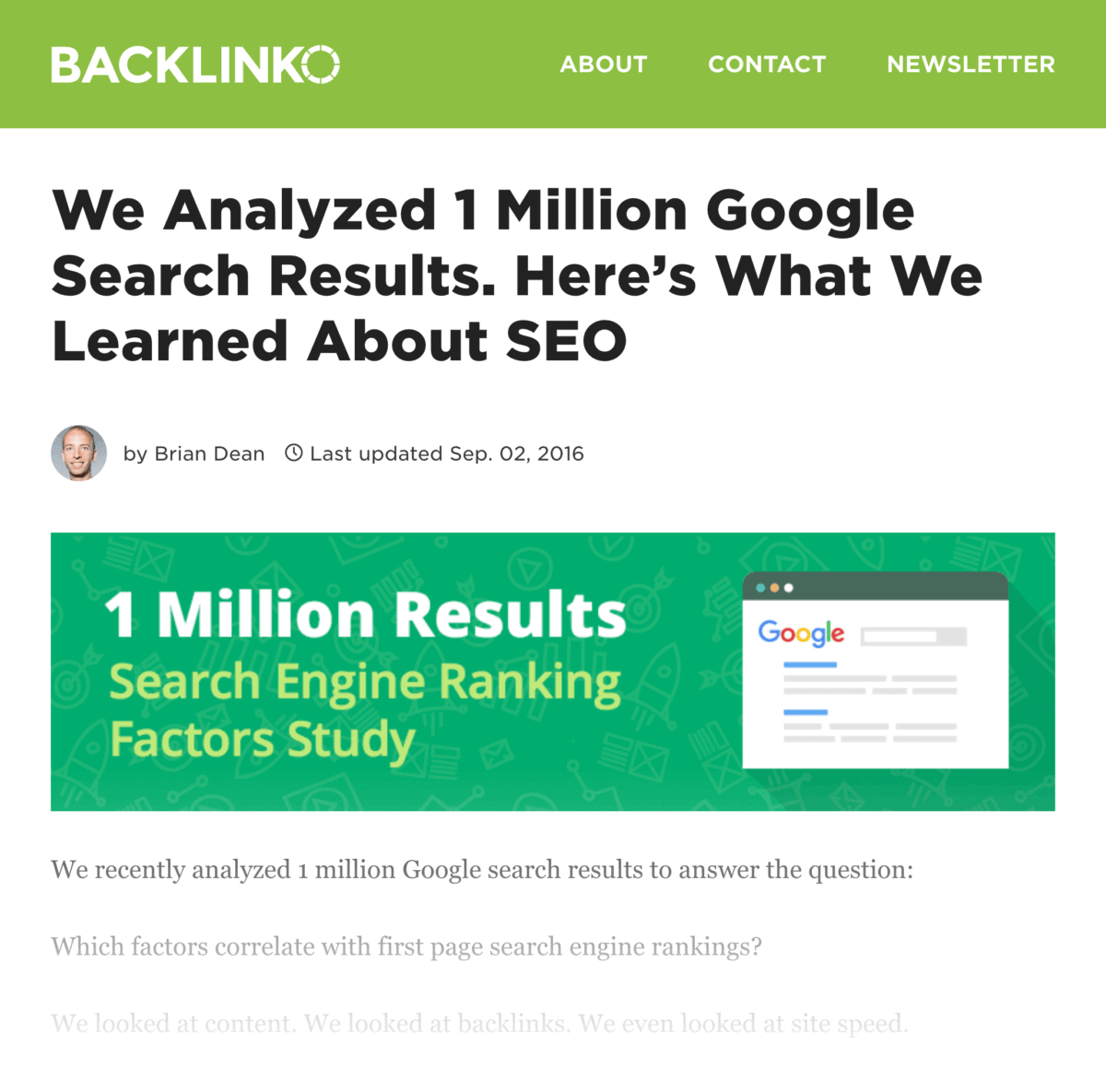Search Engine Ranking Factors post