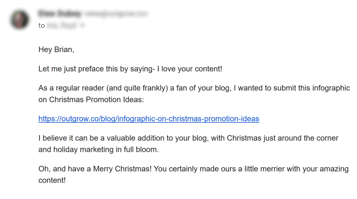 Spammy personal email
