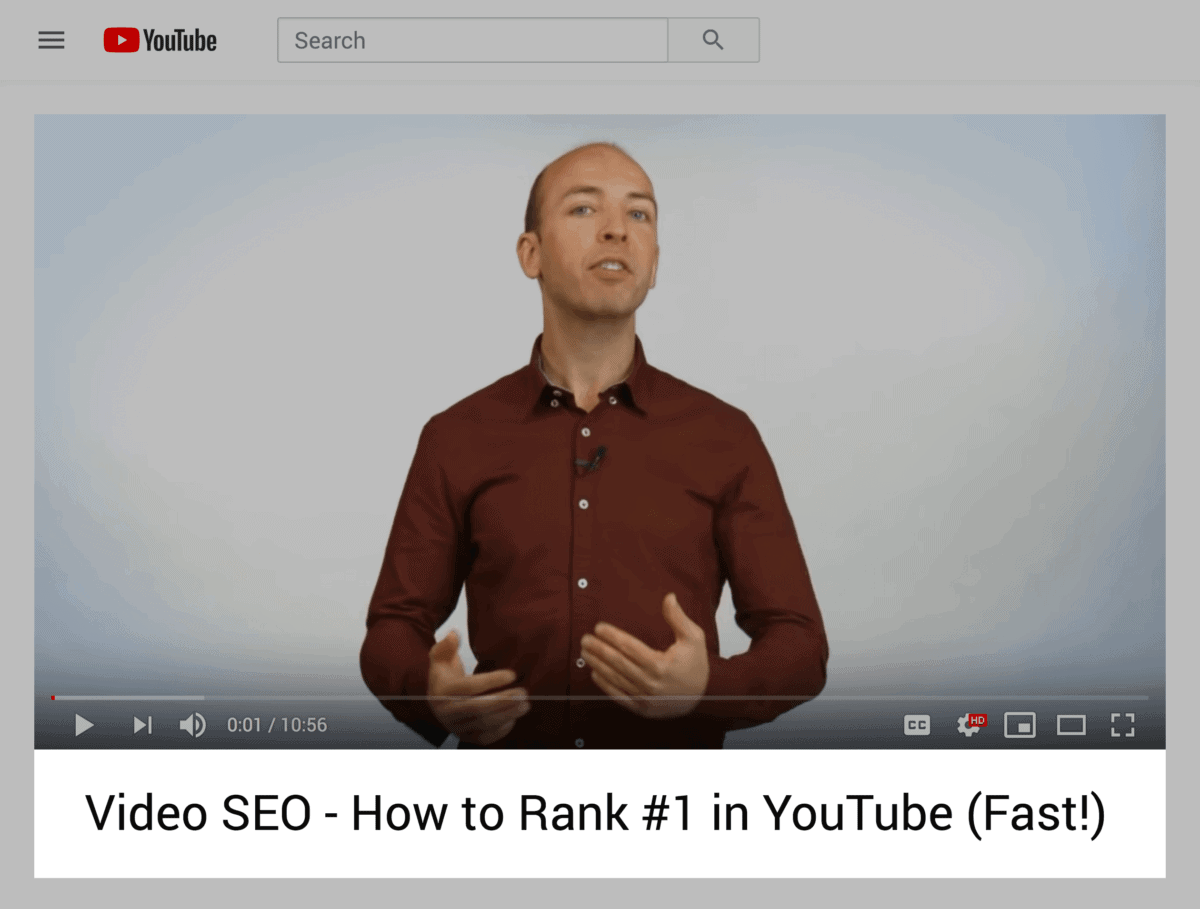 Video SEO – Keyword in title