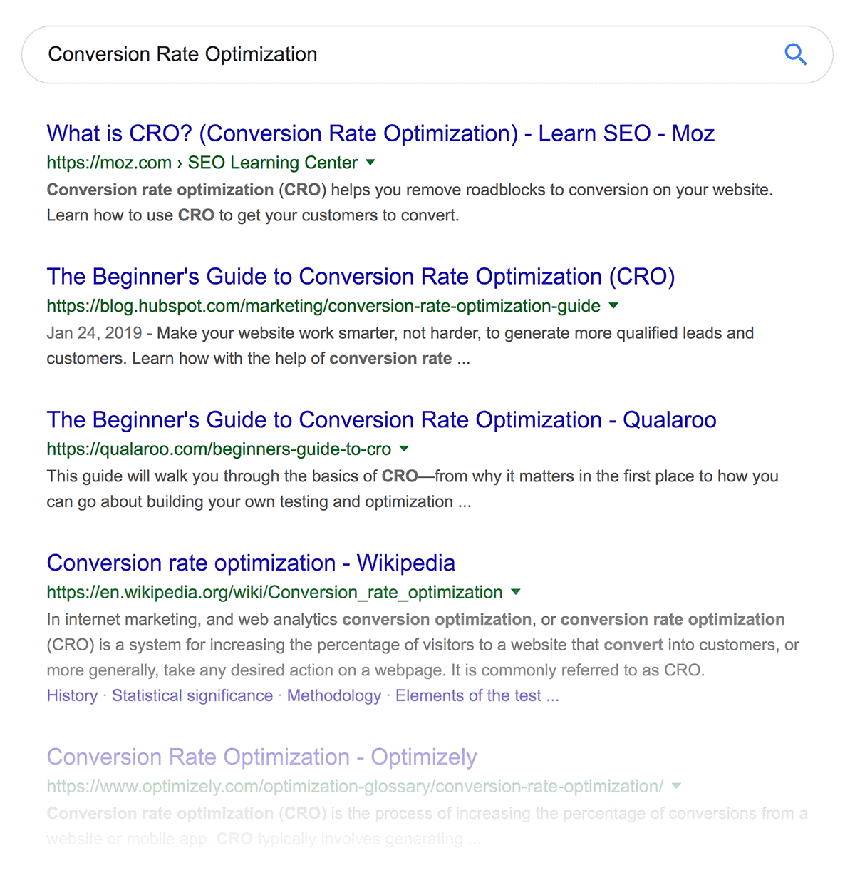 """Conversion Rate Optimization"" search results"
