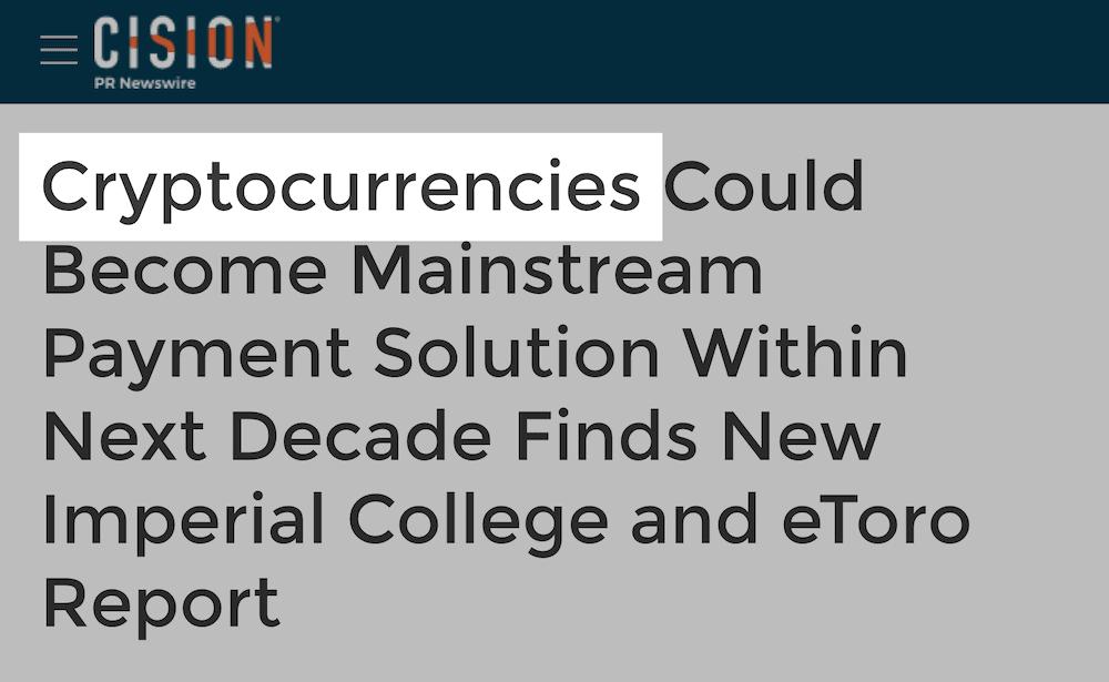 Cryptocurrencies title