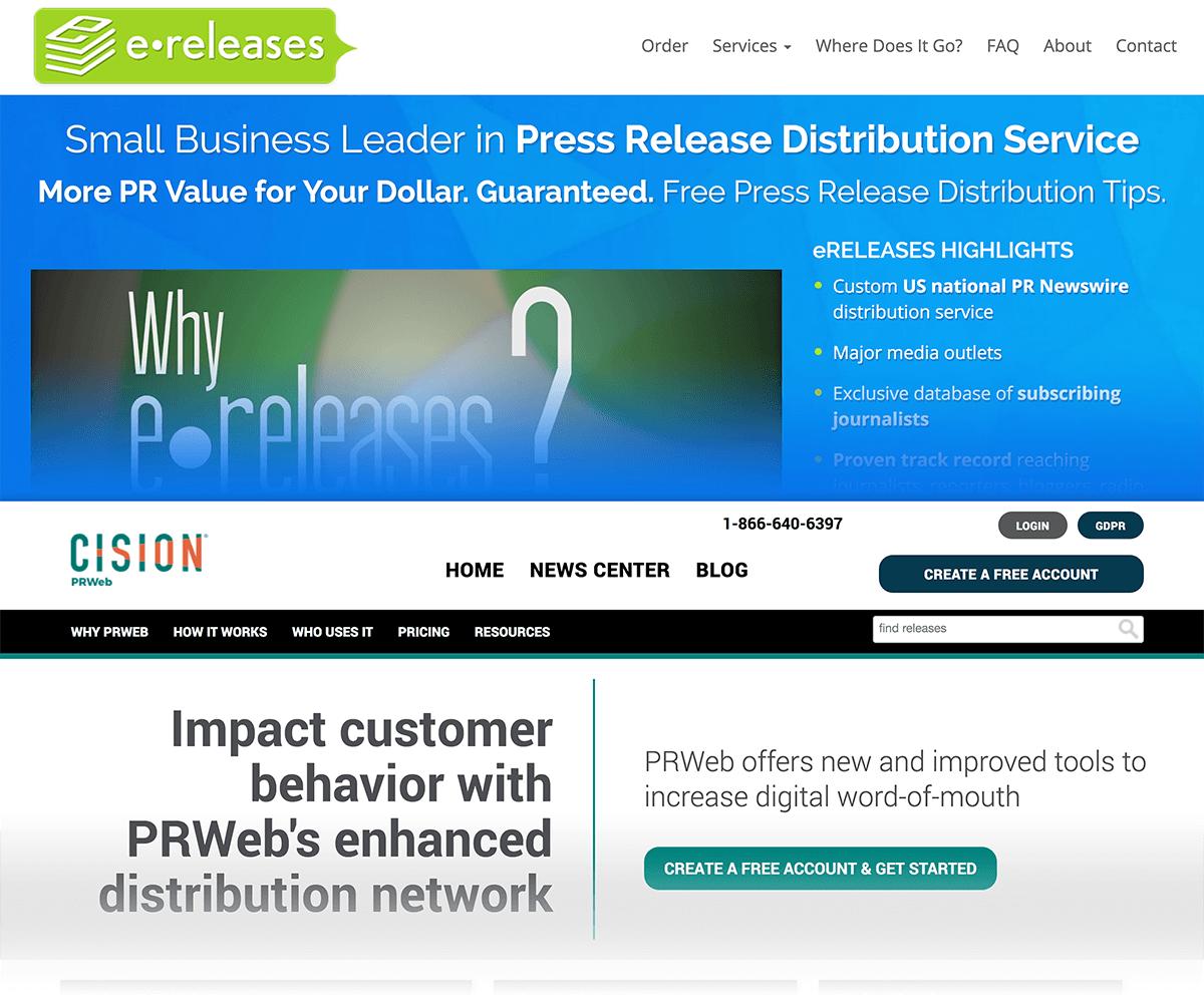 e-releases and PR web