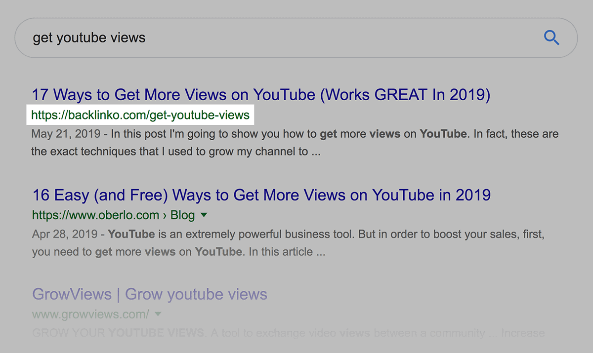 """get youtube views"" search – URL"