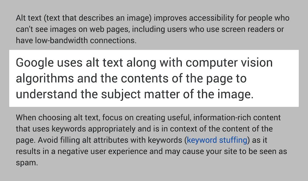 الگوریتم تصویر گوگل