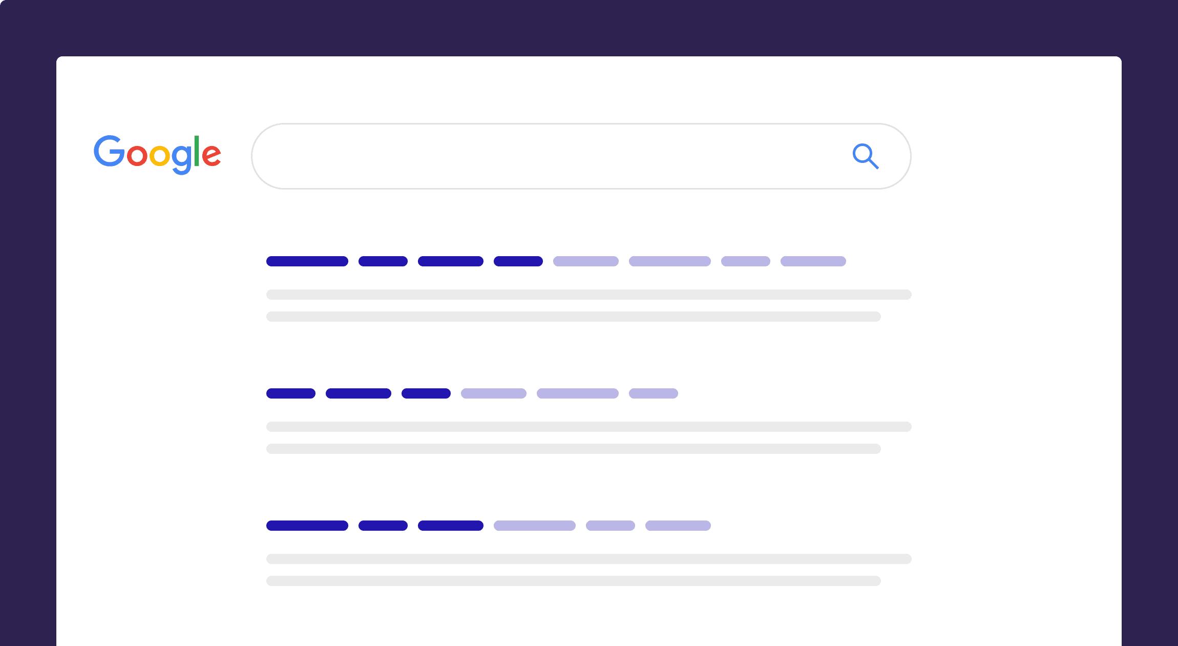 Google keyword emphasis