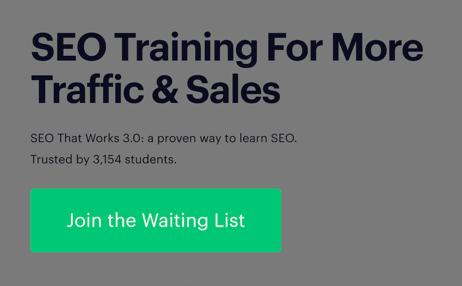 'Join the waiting list' button