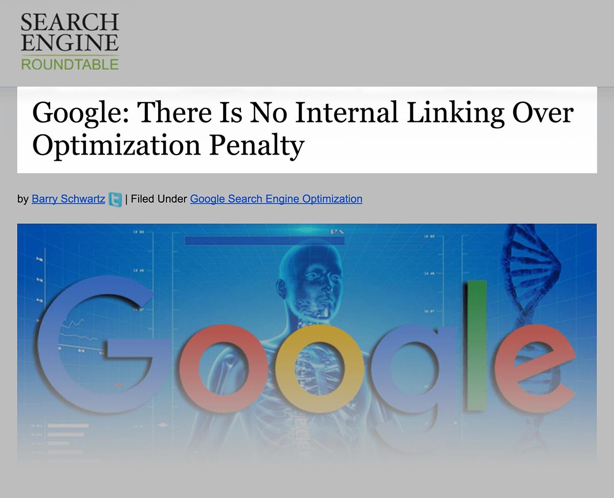 No internal linking penalty