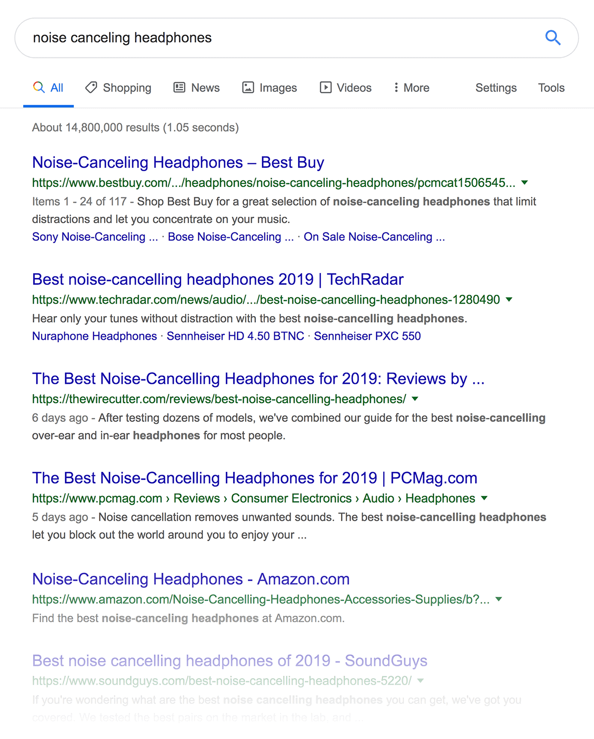 """""""noise canceling headphones"""" search results"""