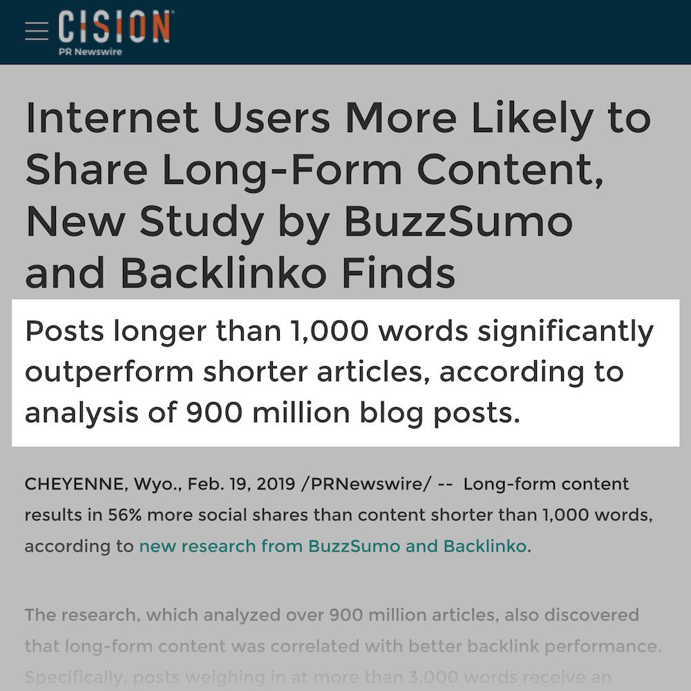 Press release subheading example