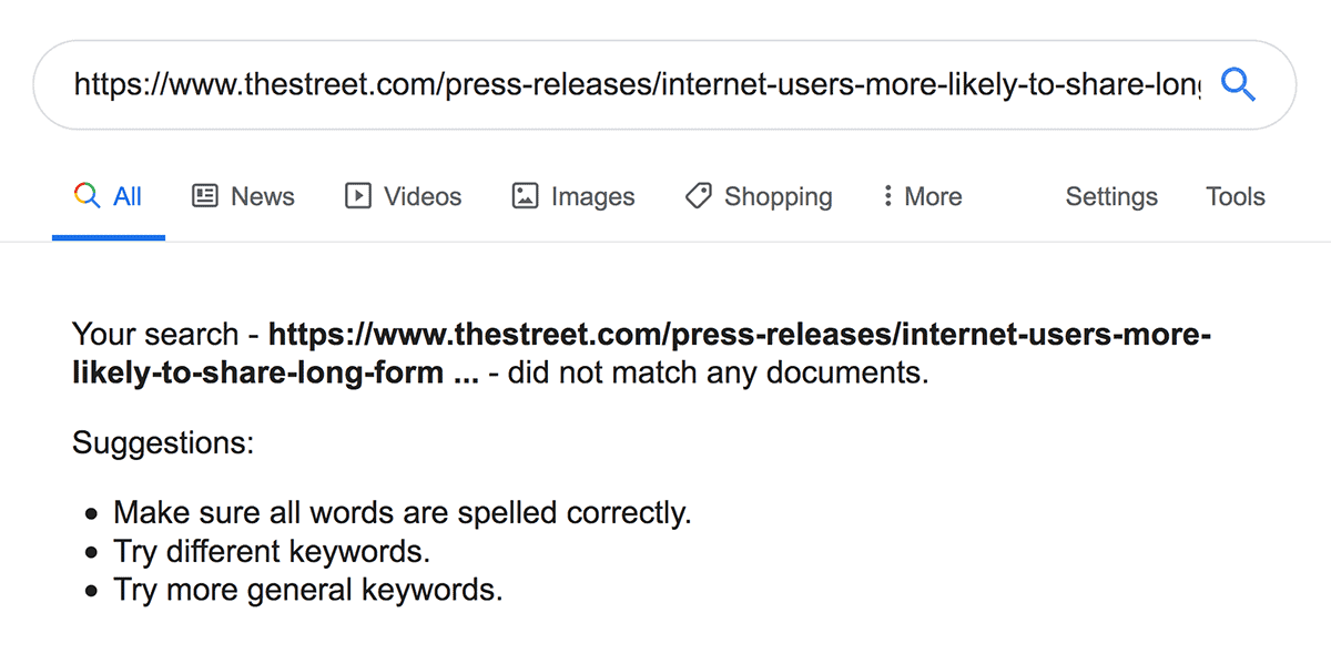 Release not indexed by Google