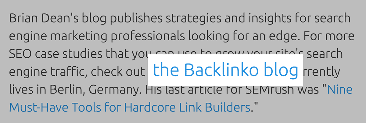SEMrush – Backlinko link