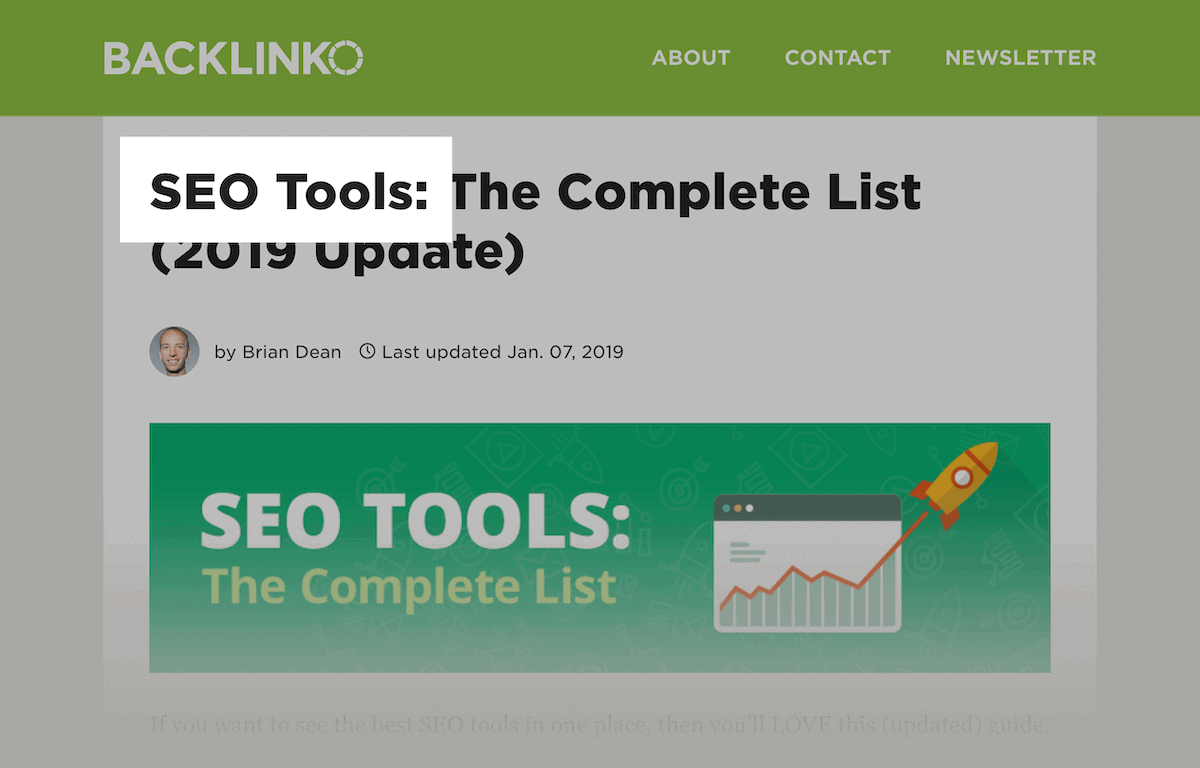 SEO Tools – Keyword in title