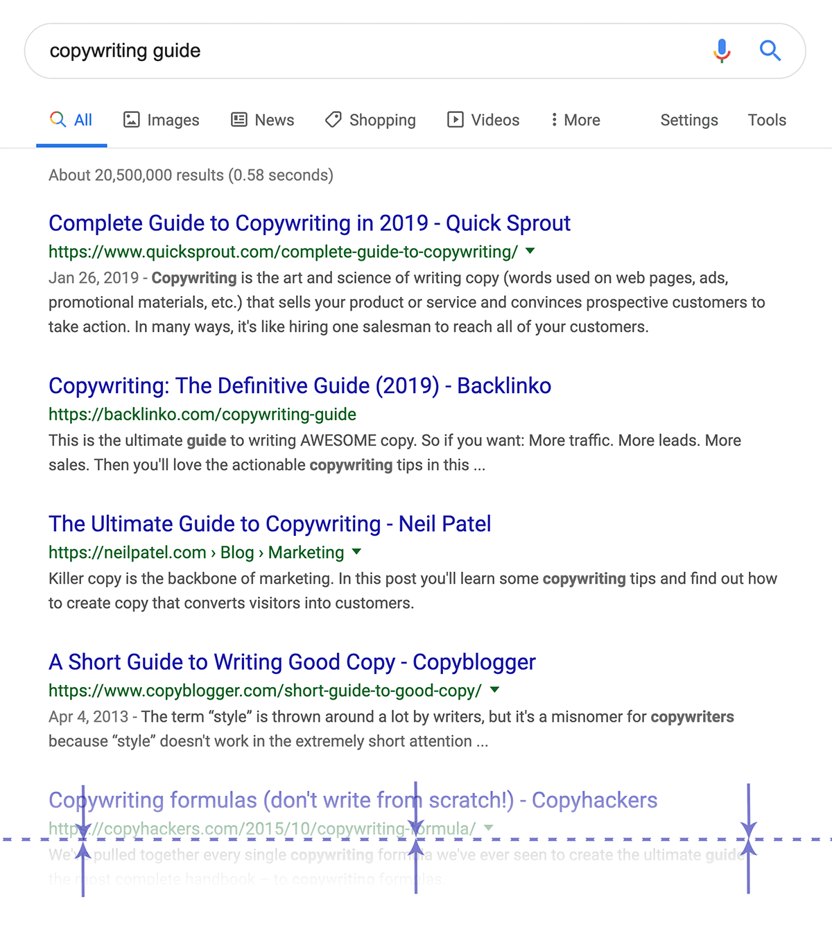The number three result is often above the fold