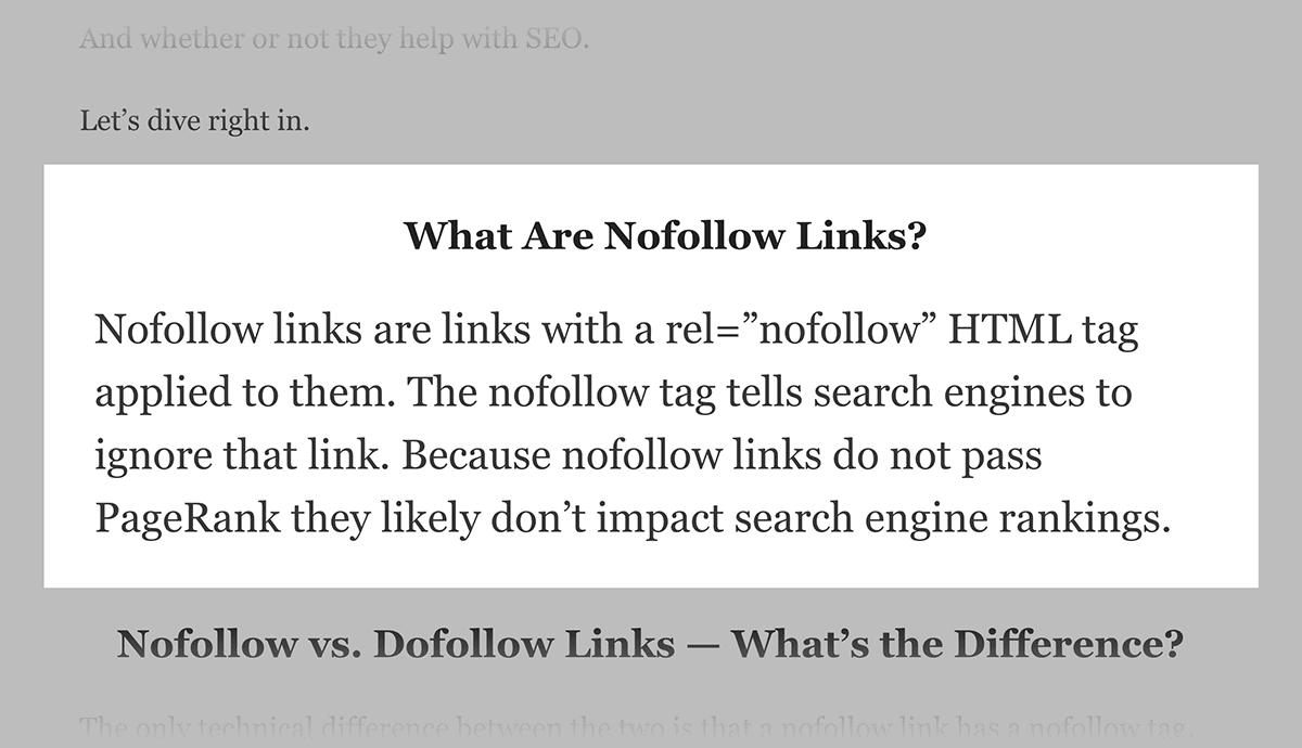 Backlinko – Nofollow Links post