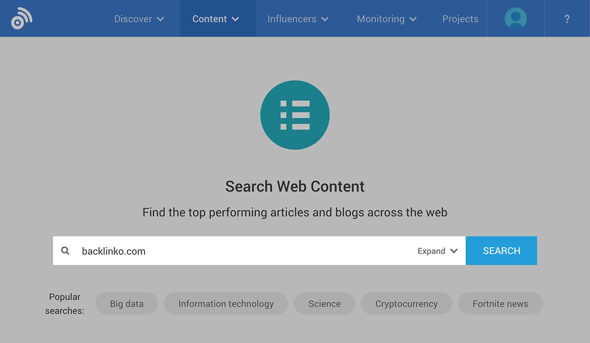 BuzzSumo – Search web content