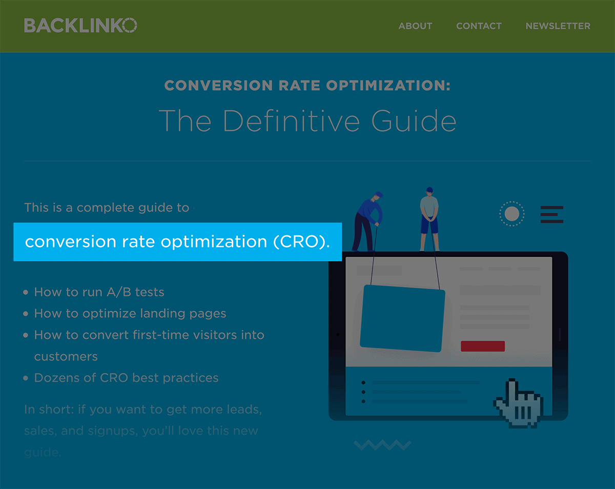 Conversion Rate Optimization – Keyword in description