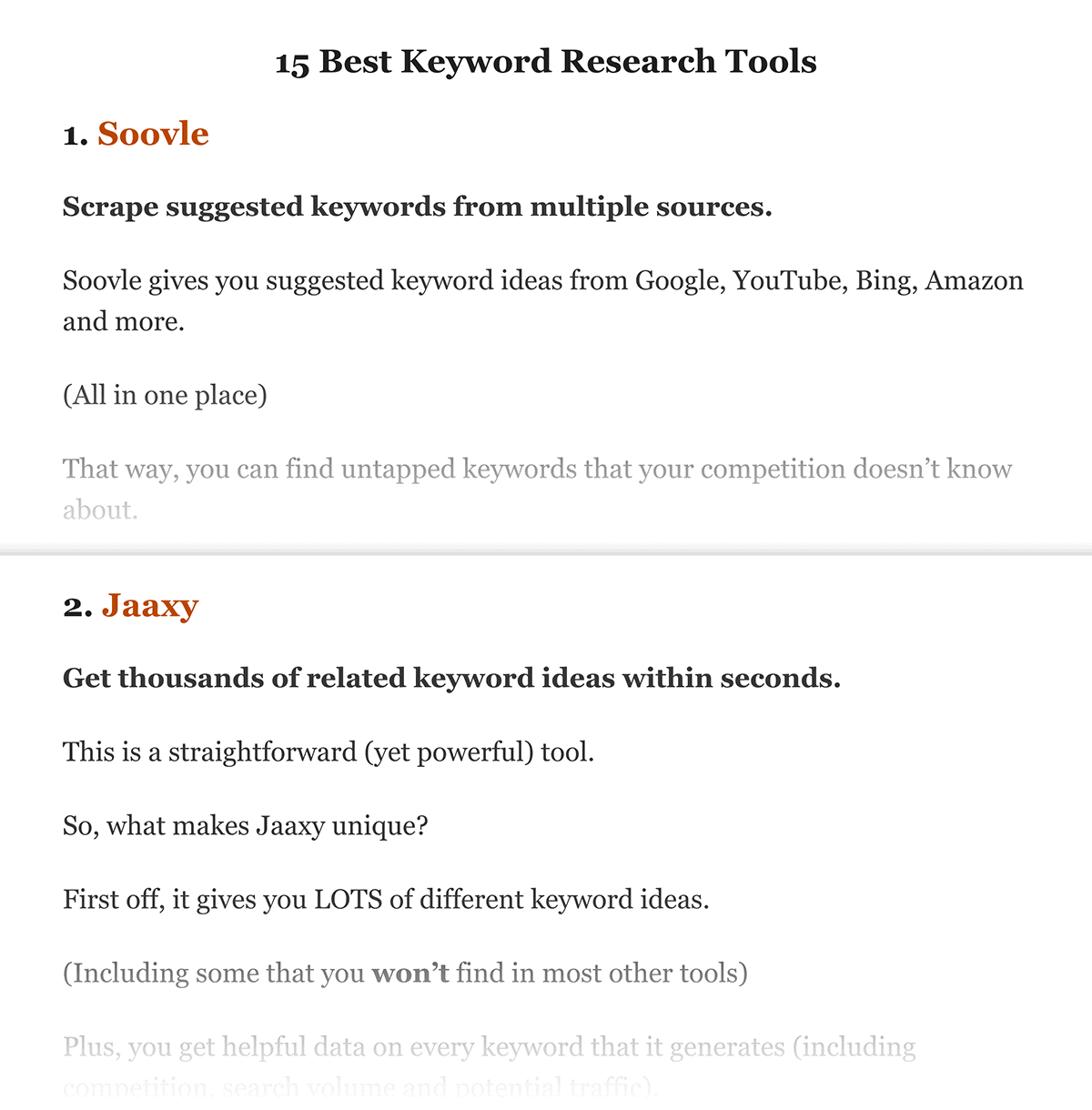 Keyword Research Tools For SEO post