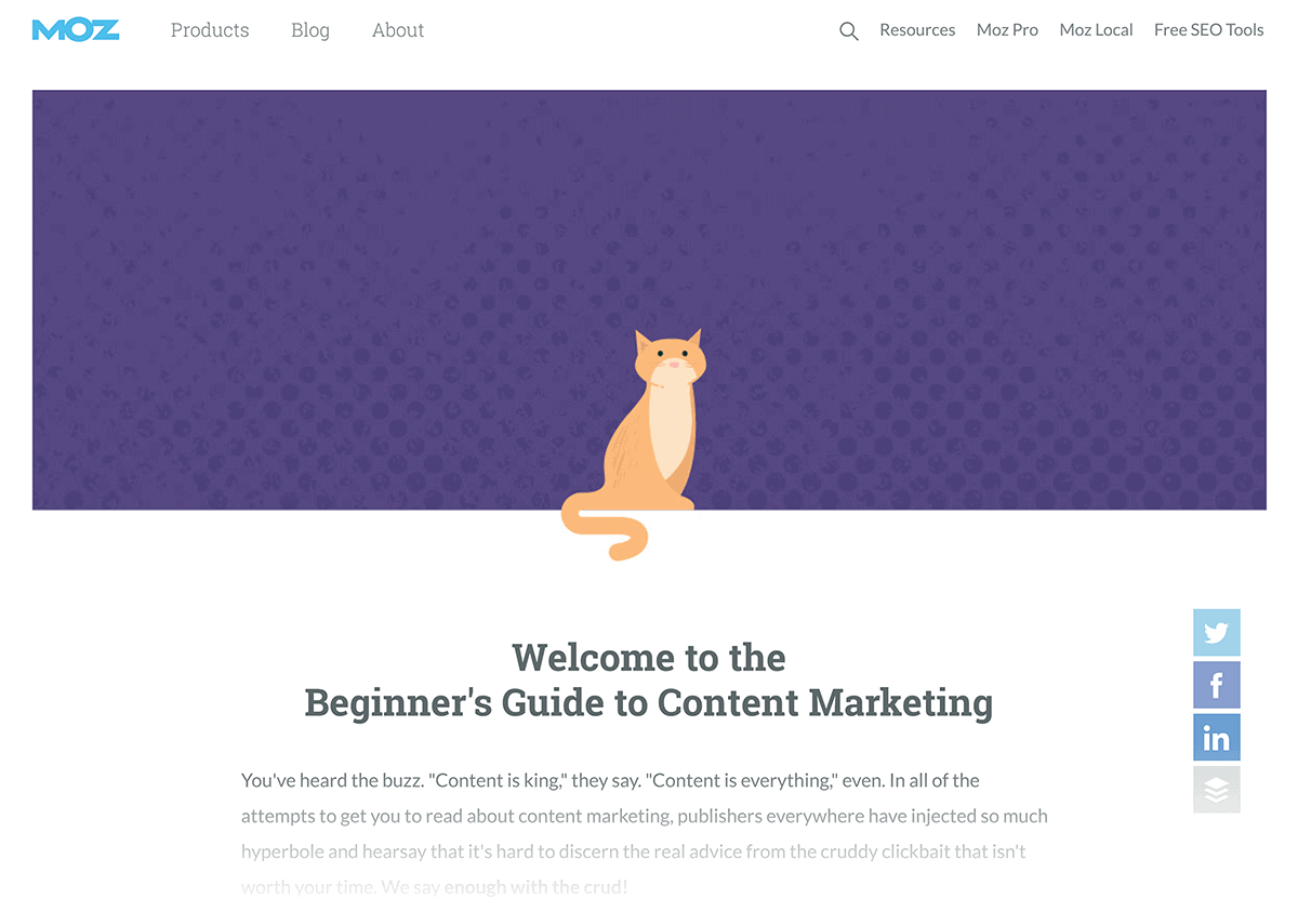 Moz – Beginners Guide to Content Marketing