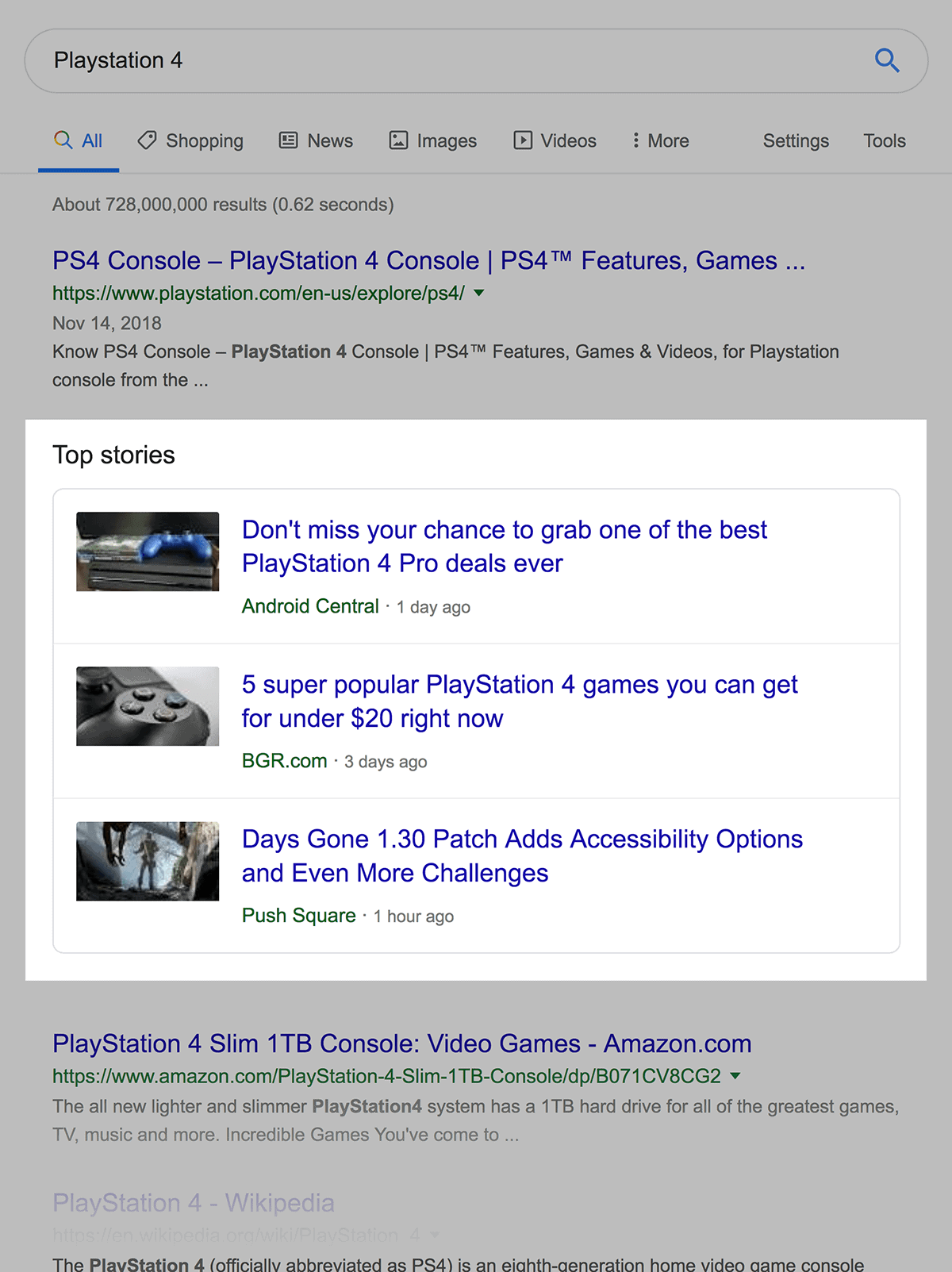 """Playstation 4"" Top Stories"