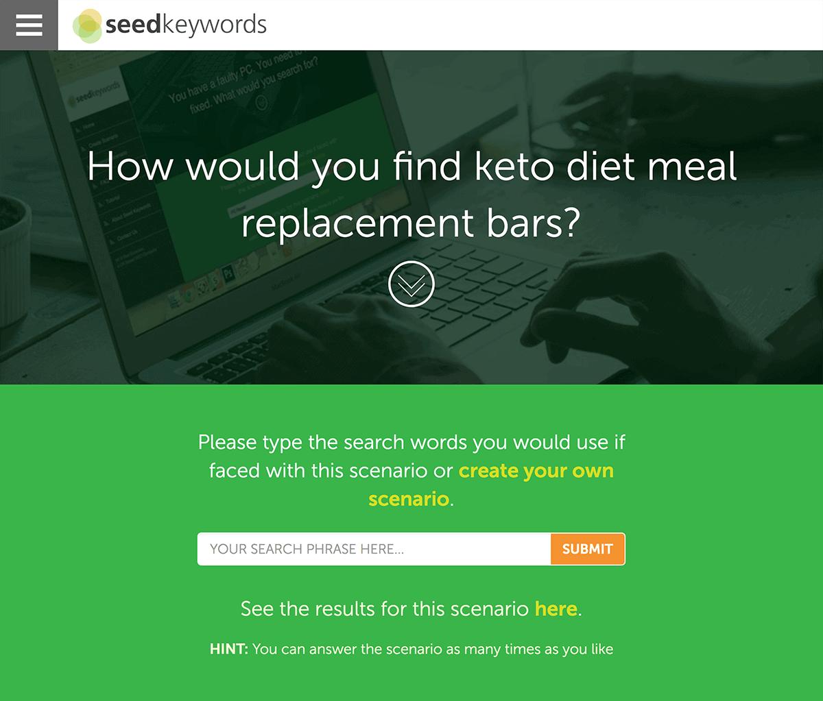 SeedKeywords example