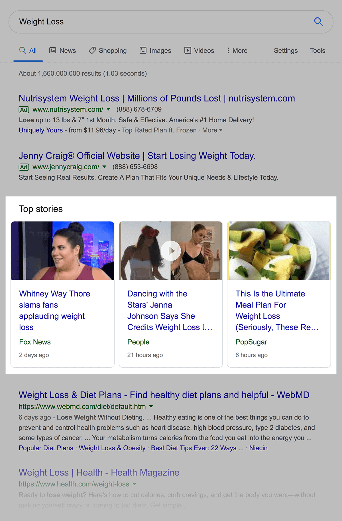 """Weight Loss"" Top Stories"
