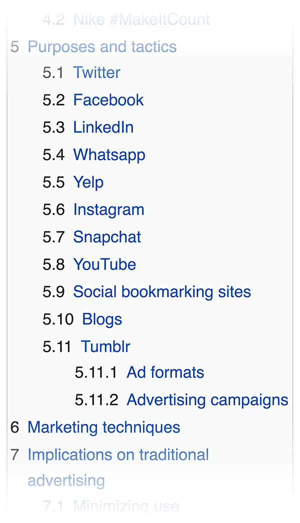 Wikipedia contents