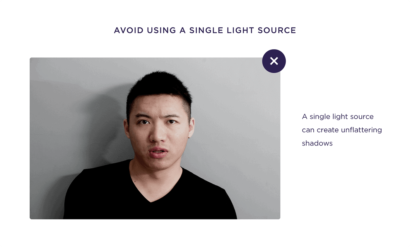 Avoid using a single light source