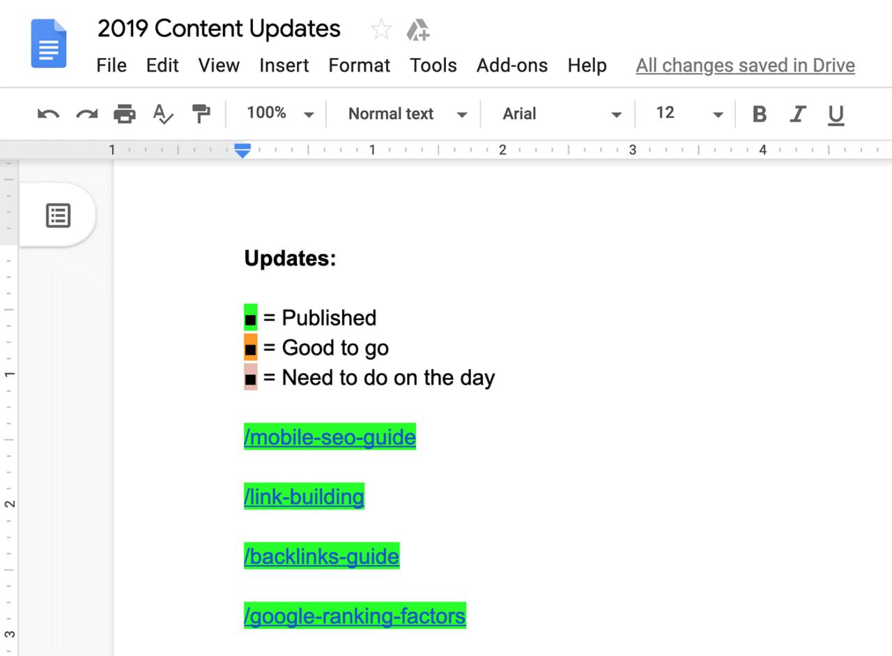 Backlinko post updates document
